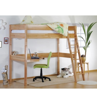 cama alta madera