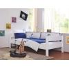 Ropa de cama infantil azul y blanco