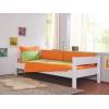 Ropa de cama verde y naranja