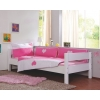 Ropa de cama con corazones blancos y rosas