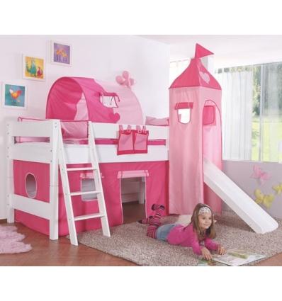cama alta infantil con tobogn