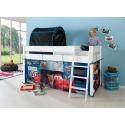 Cama alta infantil con escritorio