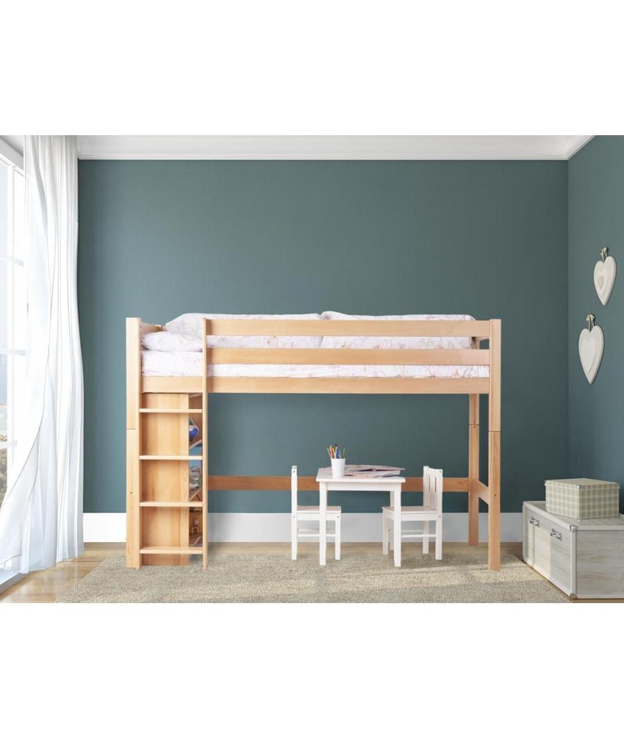 Cama alta nios colorido nios cama litera de madera barata nios baratos literas camas literas - Camas infantiles barcelona ...