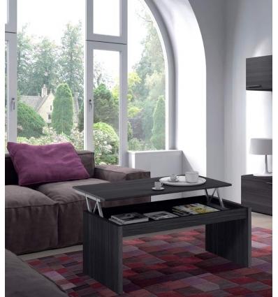Mesa de salón elevable gris ceniza