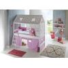 Cama cabaña lila rosa
