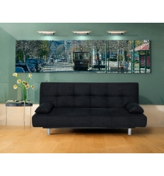 sofa convertible oniros negro - Sofas Negros