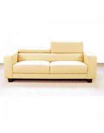 sofa dos plazas crema