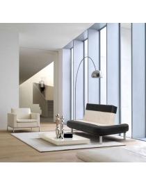 sofa cama retro blanco y negro