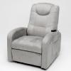 Sofá relax gris con mando