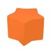 Butaca puff infantil naranja