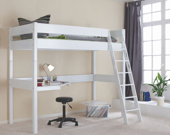 Pin cama alta con escritorio muebles infantiles y juveniles on pinterest - Cama alta con escritorio ...
